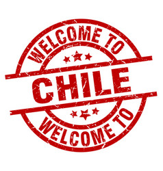 Welcome to chile red stamp vector