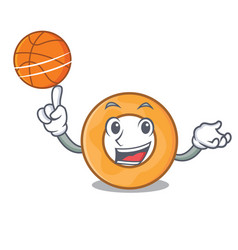 With basketball onion ring character cartoon vector