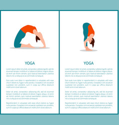 yoga poses banners collection vector image