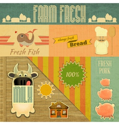 Farm Fresh Organic Products vector image vector image