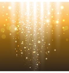 golden lights vector image vector image