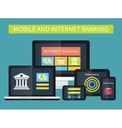 Internet banking online transaction Mobile vector image