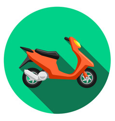scooter transport flat icons set moped vector image vector image
