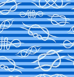 seamless background of knots at sea striped vector image