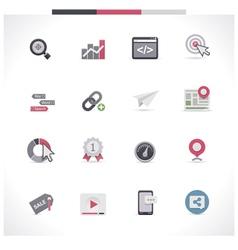 SEO icon set Part 1 vector image vector image