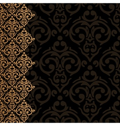 baroque damask luxury border vector image vector image