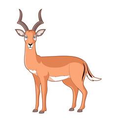 cartoon smiling impala vector image vector image