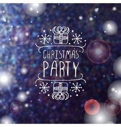 Christmas party - typographic element vector image