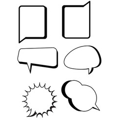 comic bubbles text boxes set with blank speech vector image vector image