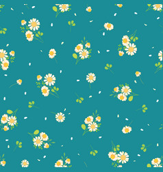 cute daisies ditsy seamless pattern vector image vector image