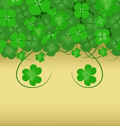 Happy Patrick s background Day vector image