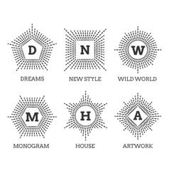 Hipster vintage labels logo or badges vector image vector image
