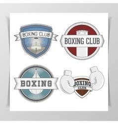 Set of Boxing Design Elements vector image