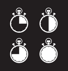 stopwatch timer set vector image vector image