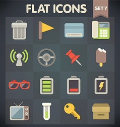 Universal Flat Icons for Applications Set 7 vector image