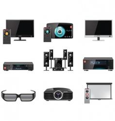 video equipment icon set vector image vector image