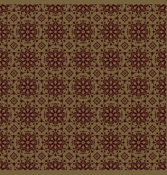 brown flower seamless pattern background vector image