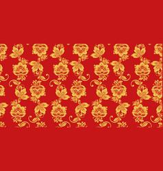 hohloma seamless pattern russian culture decor vector image vector image