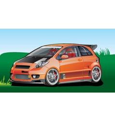 orange car vector image vector image