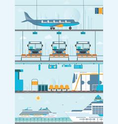 set of public passenger transport vector image vector image