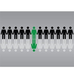 Successful people background vector image vector image