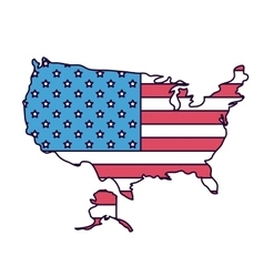 usa map with flag isolated icon design vector image