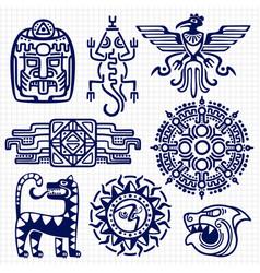 ballpoint pen american aztec mayan culture native vector image vector image