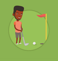golfer hitting the ball vector image vector image