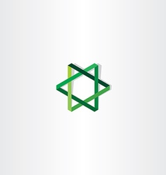 green star logo sign vector image