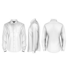 mens long sleeved formal vector image vector image