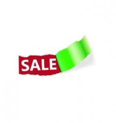 sale page corner vector image