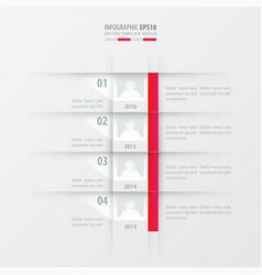 timeline report design template pink gradient vector image