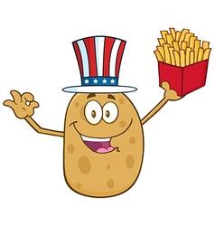Uncle Sam Potato Cartoon vector image vector image