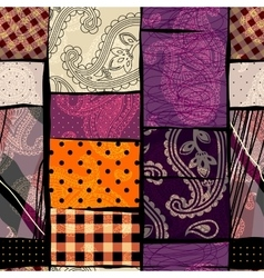 Abstract patchwork background vector
