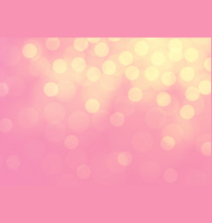 abstract yellow bokeh light on pink luxury vector image