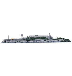 Alcatraz island vector
