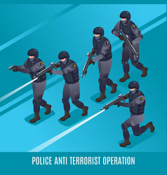 Anti terrorist operation special police force vector