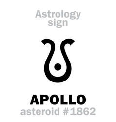 Astrology asteroid apollo vector