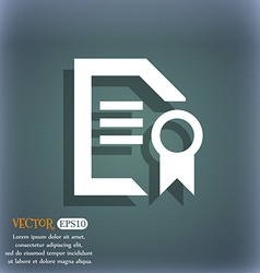 Award File document icon symbol on the blue-green vector image