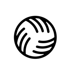 ball water polo sign ball for playing on water vector image