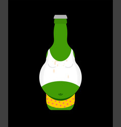 beer belly in bottle isolated alcohol vector image