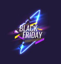 Black friday banner original poster for discount vector