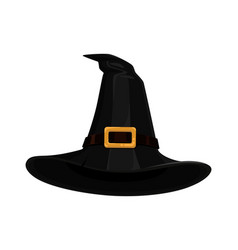 Black witches hat vector