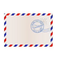 Blank envelope with air mail postmark vector