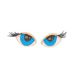 Blue human eyes icon cartoon style vector