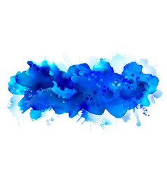 blue watercolor big blot spread to light vector image