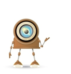 brown cartoon robot isolated on white vector image