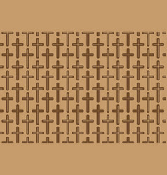 Brown cross on brown background vector