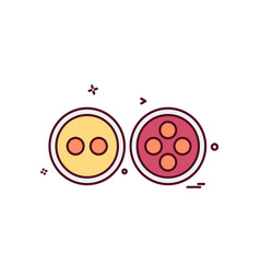 buttons icon design vector image