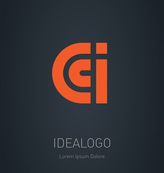 C C and I initial logo C C and I initial monogram vector image